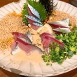 旬の鮮魚と魂の煮込み ぶん福茶がま - ゴマ鯖 白