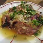 せいすスタンド - 「田舎鶏白レバーのタタキ」(¥550)