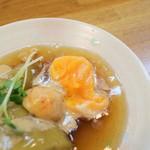 巻の禪 - 海老団子・茄子・温泉卵