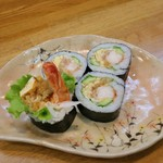 巻の禪 - 海老フライとタマゴの巻き寿司