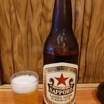 いづみや - ビンビール 大ビール510円