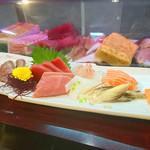 馬上豊寿司 - 料理写真:刺身盛合せ7種(飛騨牛登場)