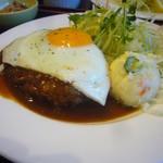 八田洋食堂 はな - 料理写真:ハンバーグデミソース