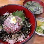 11376352 - 鯵のたたき丼 (味噌汁・お新香付)1100円