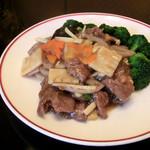 中国料理 娘娘 - 牛肉と連島レンコンの炒め物