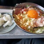 いちもんめ - 豚玉(550円)+以下トッピング(70円)