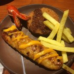 鶏のジョージ - タコさんウインナー❤︎、ポテト揚げ、ツクネ、何かのフライ
