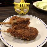 串かつ 船越 - 椎茸110円、キス110円、レンコン120円