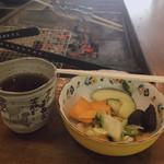いろり茶屋 岩魚や五平 - 料理写真:黄色はコリンキー。