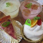 パティスリーアンパッション - 美白ピーチ、カルピスぶどう、ミルキー、レアチーズ