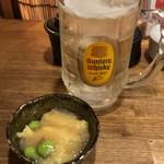 鮨と日本酒 蔵よし - トリスハイボール+お通し