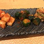 焼肉 幸楽 - キムチ三点盛り