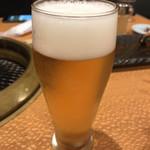 焼肉 幸楽 - グラスビール