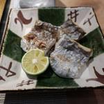 鮨割烹 廉 - 太刀魚塩焼き