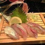 活魚廻転寿司 にぎり長次郎 - にぎり長次郎 鯵一匹握り.JPG