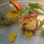 ワイズキッチン - 料理写真:五島、伊勢海老のグリル、サラダ仕立て