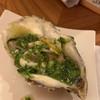 夜鮨 - 料理写真:牡蠣 オクラとブロッコリーソースで ガーリック風味はなく、あっさりとしたソース。 牡蠣は軽く火入れしてありました。