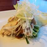 中華料理 富記 - お通し300円の棒々鶏