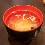 松葉寿し - 味噌汁