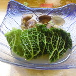 真 お魚と野菜 - サヴォワ(ちりめんキャベツと浅蜊の潮煮
