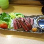 真 お魚と野菜 - 牛ヒレ肉塩焼き