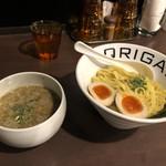 オリガミ - 料理写真:ORIGAMIあっさり味玉つけ麺。麺中盛(250g)