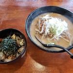 大正麺業 - 味噌ラーメン+チャーシュー丼2019.08.12
