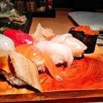 日本海庄や - 本日のサービス握り寿司