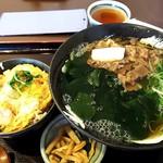 113832400 - 肉ワカメうどん、ミニヒレカツ丼                       940円