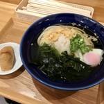 113835815 - [2019/08]おはよううどん冷・みぞれわかめ(400円)+温泉玉子(100円)