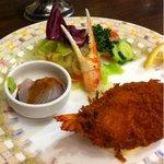 雅DINING - おすすめハンバーグステーキセット  1890円の前菜。