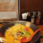 麺場 田所商店 - 信州味噌 冷やしタンタン麺850円(税別)。