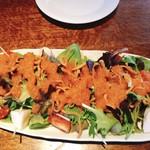 手打ち蕎麦 三乗 - 揚げ蕎麦サラダ