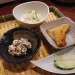 田中マネの食堂 - おばんざい三種&御漬物