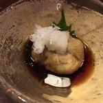 天庵 - 蕎麦豆腐の揚げ出し とろりとしていて美味しい