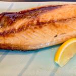 神田魚金 - 大トロの鯖焼き アップ