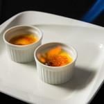ヴィラージュ伊豆高原 - 【ブリュレ】濃厚なカスタードと焦がしキャラメルにぐり茶がほのかに香ります