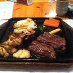寛屋 - 俵バーグと鶏の炭火焼き