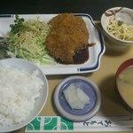 かずひろ亭 - 料理写真:日替わり定食(チキンカツ3枚!) 550円