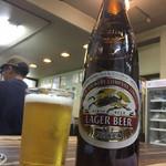 遠州屋 - 男は黙って、キリンの大瓶ビール