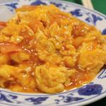 哈爾濱飯店 - トマトと卵の炒め