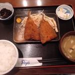 家庭料理の店 Ryo - 料理写真:アジフライ定食