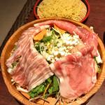 桜庵 サクラダイニング - 料理写真:彩り野菜のしゃぶしゃぶセット & ラーメン
