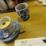 きくち - 松花堂弁当の 茶碗蒸し