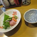 きくち - 松花堂弁当の お刺身
