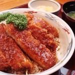辰巳家 - ソースカツ丼。ぜひ。