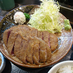 牛かつもと村 - 牛かつ麦飯明太子とろろセット 260g』 2,300円(税込み)
