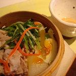 ペッパーミル - 前菜3・豚しゃぶのセイロ蒸し
