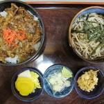 長岡屋 - カルビ丼+ミニそば
