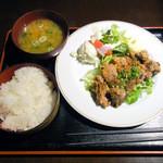 TAMAMIYA - 鶏唐揚げ定食